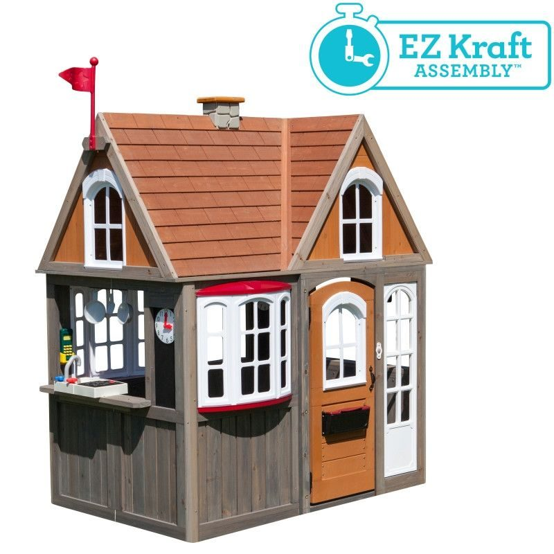 KidKraft Greystone Cottage Playhouse9