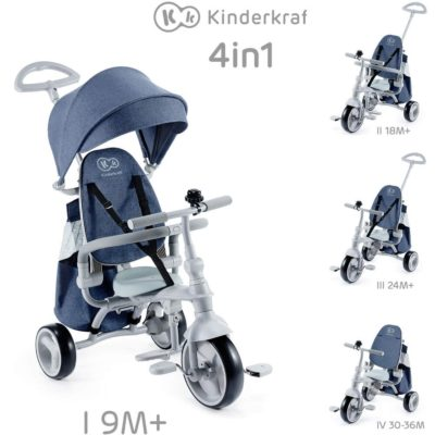 Kinderkraft Jazz 4in1 Trike - Denim