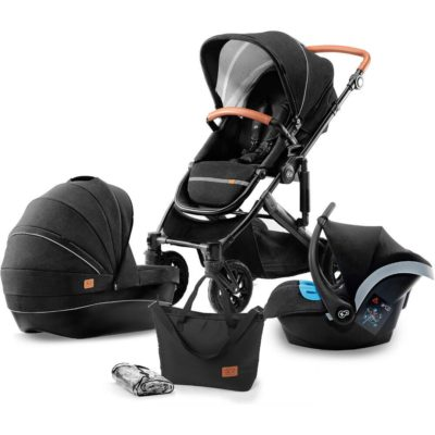 Kinderkraft Prime 3-in-1 Travel System - Black