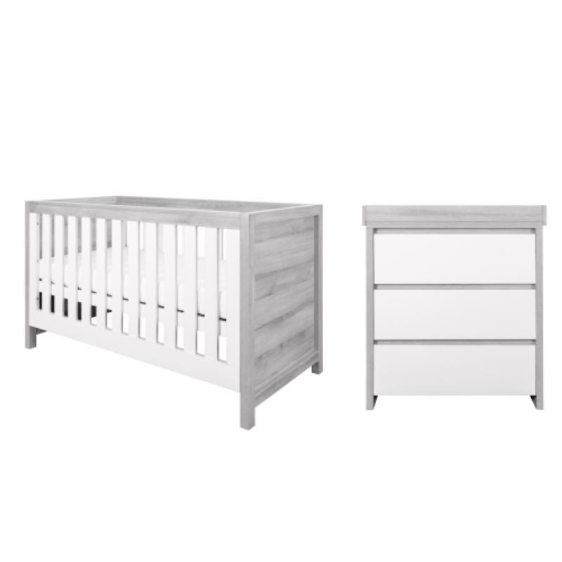Modena 2 Piece Room Set - Grey Ash White