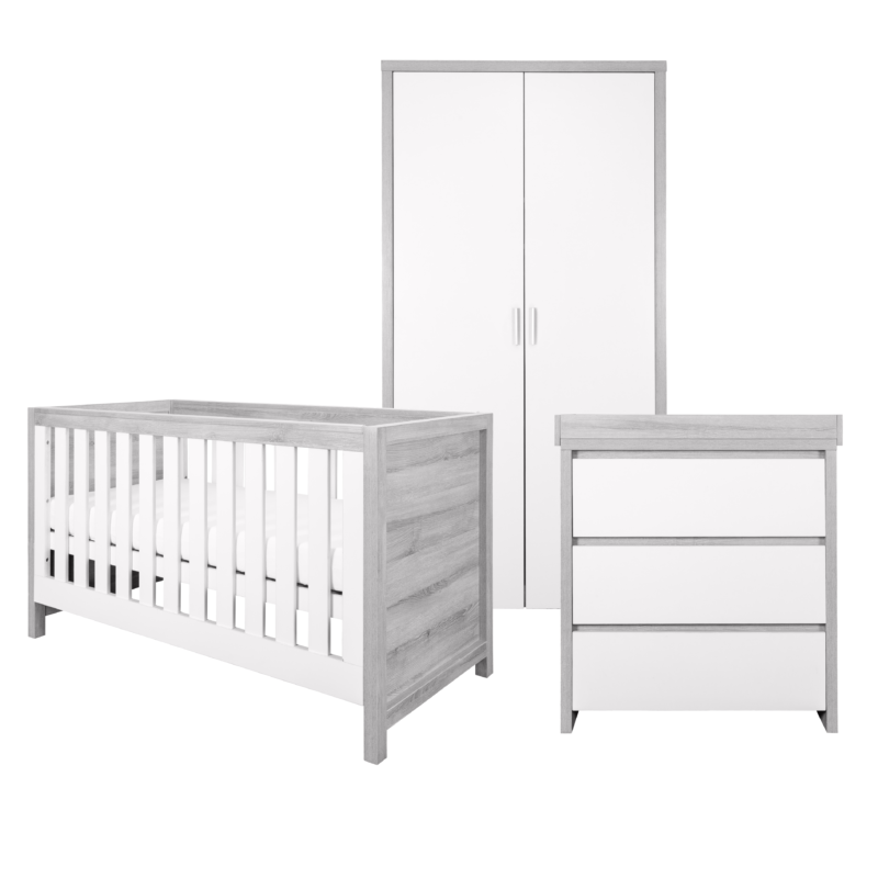 Modena 3 Piece Room Set - Grey Ash White