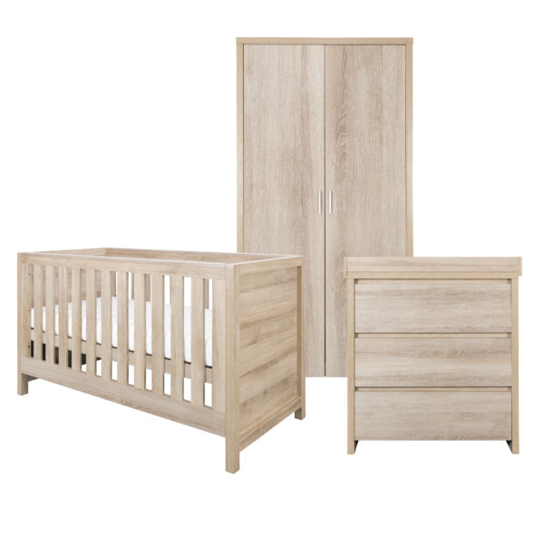 Modena 3 Piece Room Set - Oak