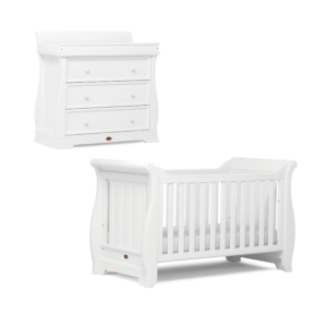Boori Sleigh 2 Piece Room Set - Barley White