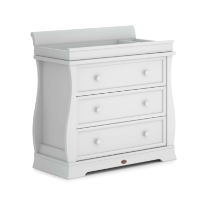 Boori Sleigh Chest of Drawers - Barley White