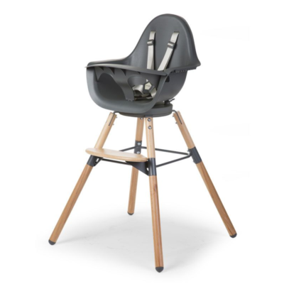 Childhome Evolu One.80° 2 in 1 Highchair - Anthracite
