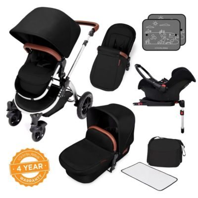 ickle bubba stroller midnight chrome bundle travel system