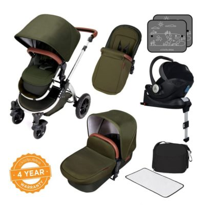 ickle bubba stroller woodland chrome i-size isofix bundle