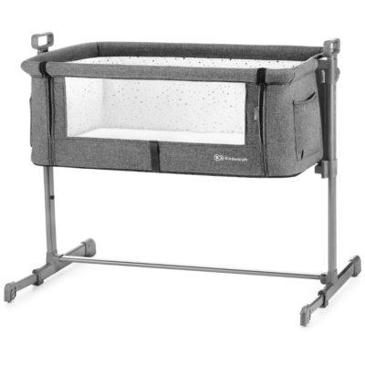 Kinderkraft Neste Bedside Crib - Melange Grey