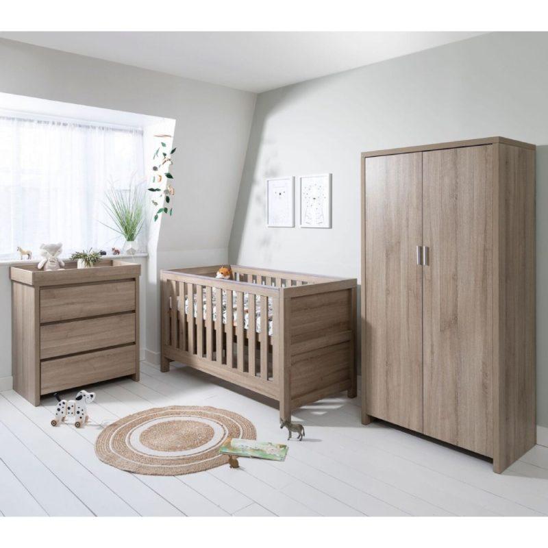 Tutti Bambini Modena 3 Piece Room Set/Mattress - Oak