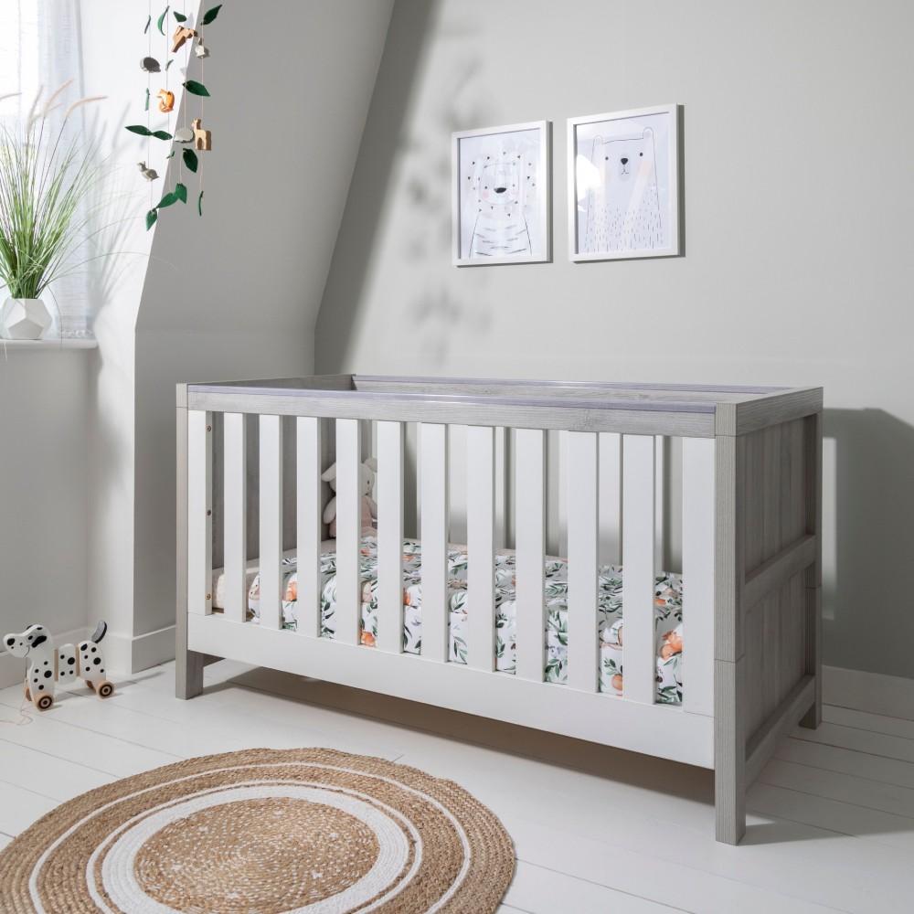 Amazing Tutti Bambini Modena Cot Bed Mattress Accessories Grey Ash White Creativecarmelina Interior Chair Design Creativecarmelinacom
