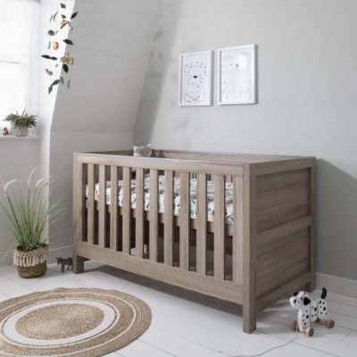 Tutti Bambini Modena Cot Bed/Mattress/Accessories - Oak