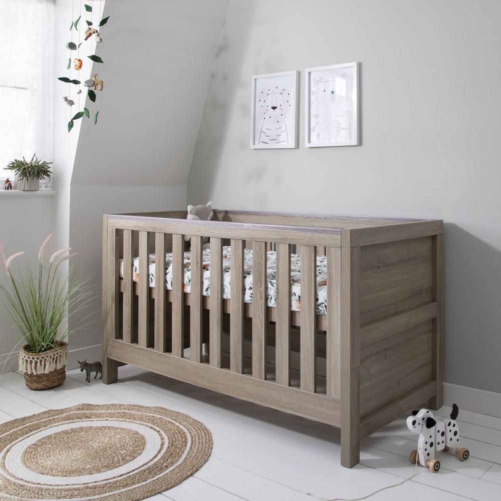 Phenomenal Tutti Bambini Modena Cot Bed Mattress Accessories Oak Creativecarmelina Interior Chair Design Creativecarmelinacom