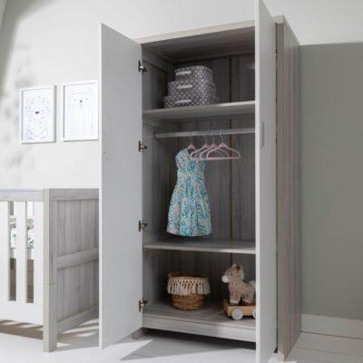 Tutti Bambini Modena Wardrobe - Grey Ash/White