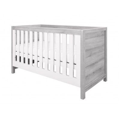 tutti bambini modena cot bed grey ash white