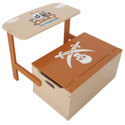 Kiddi Style Convertible Toy Box, Bench, Table and Chair