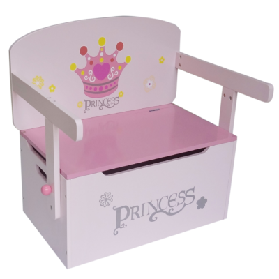 Kiddi Style Convertible Toy Box, Bench, Table and Chair - Princess