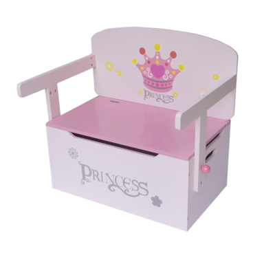 Kiddi Style Convertible Toy Box, Bench, Table and Chair - Princess4
