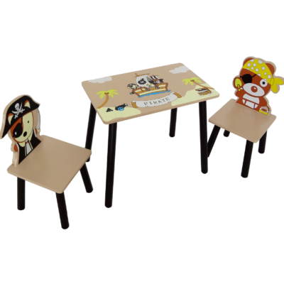 Kiddi Style Pirate Table and Chairs1