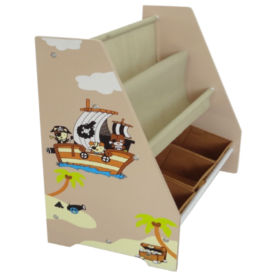 Kiddi Style Pirate Themed Sling Bookshelf and Storage