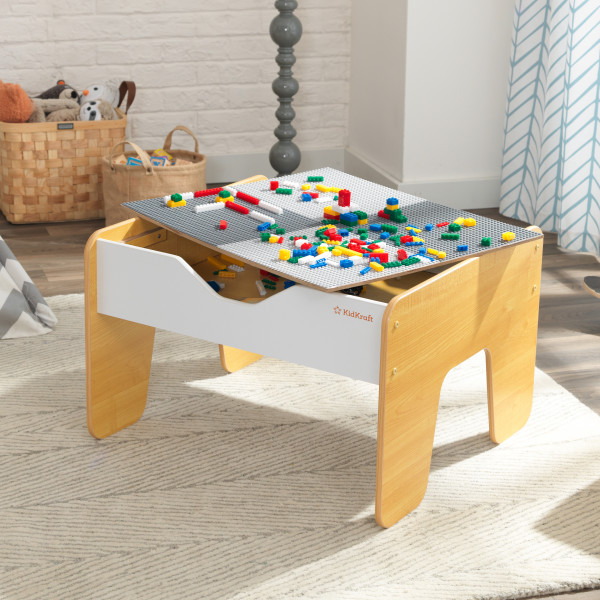 KidKraft 2-in-1 Activity Table with Board Gray//Natural