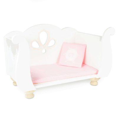 Le Toy Van Sleigh Doll Cot 2