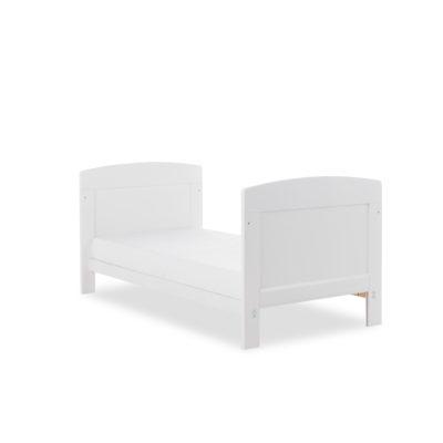 Obaby Grace Mini Cot Bed plus Mattress Options - White 2