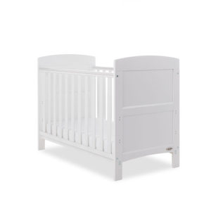Obaby Grace Mini Cot Bed plus Mattress Options - White