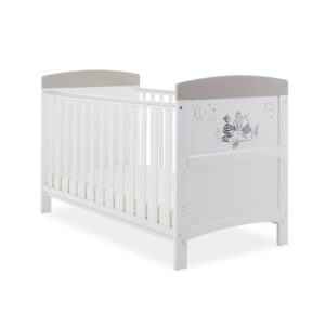 Obaby Winnie the Pooh Cot Bed plus Mattress Options - Looking out at Night