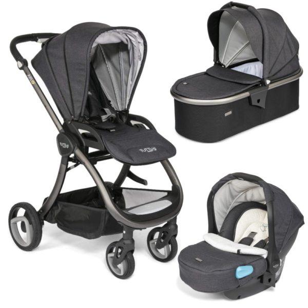 Tutti Bambini Arlo Charcoal 3 in 1 Travel System-Liquorice