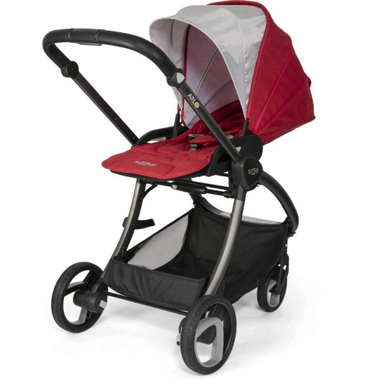Tutti Bambini Arlo Charcoal 3 in 1 Travel System- Poppy