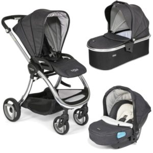 Tutti Bambini Arlo Chrome 3 in 1 Travel System Liquorice