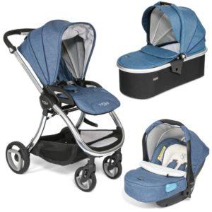 Tutti Bambini Arlo Chrome 3 in 1 Travel System Midnight Blue