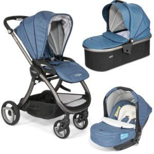 Tutti Bambini Arlo Charcoal 3 in 1 Travel System Midnight Blue