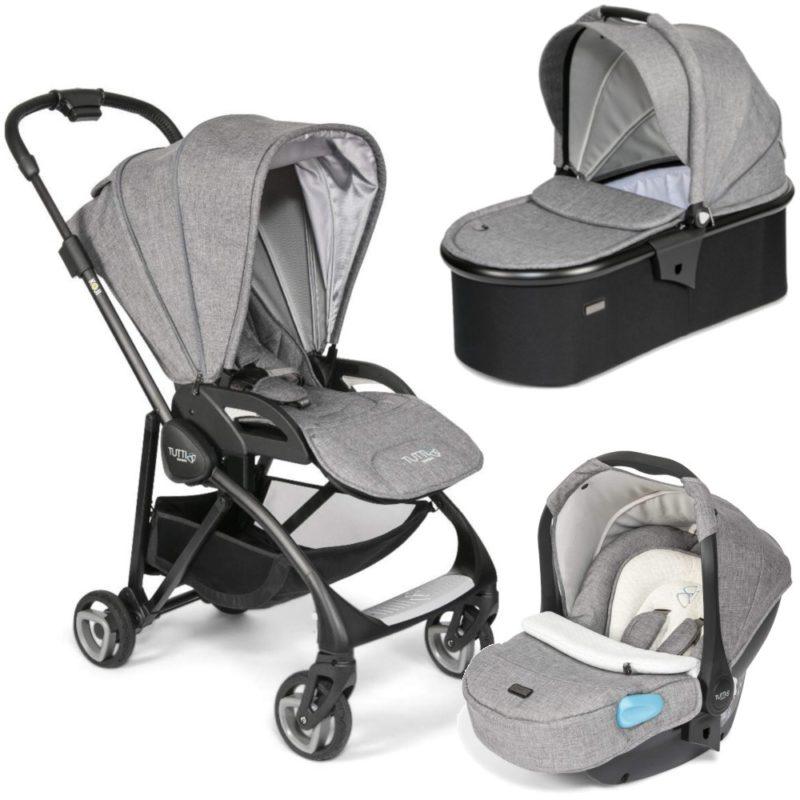 Tutti Bambini Koji Black 3 in 1 Travel System-Charcoal