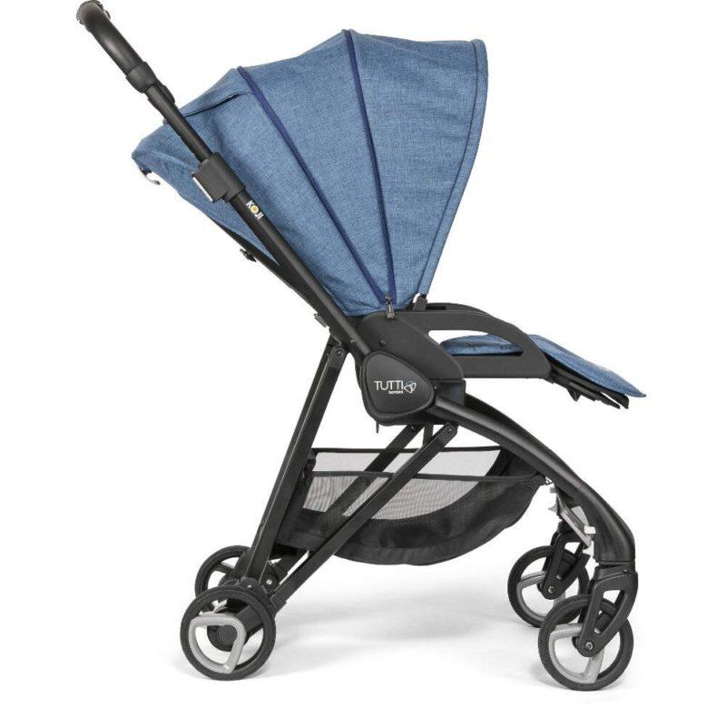 Tutti Bambini Koji Black 3 in 1 Travel System- Midnight Blue