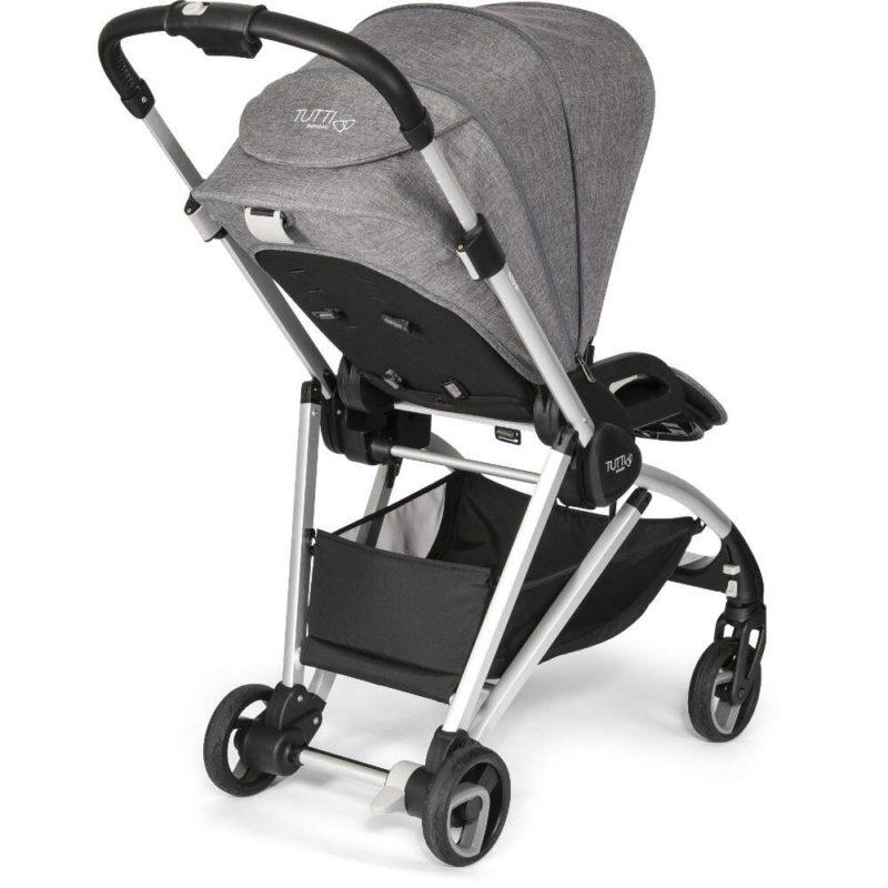 Tutti Bambini Koji Silver 3 in 1 Travel System- Charcoal