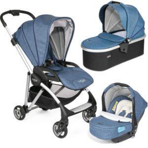 Tutti Bambini Koji Silver 3 in 1 Travel System-Midnight Blue