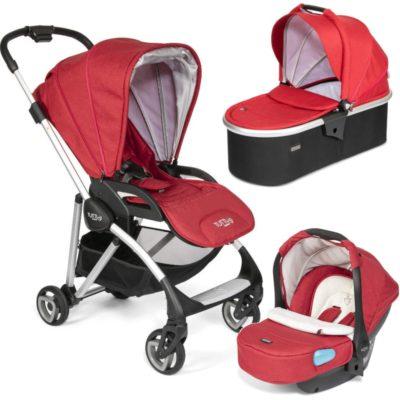 Tutti Bambini Koji Silver 3 in 1 Travel System- Poppy