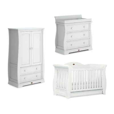 Boori Sleigh Royale 3 Piece Room Set - Barley White