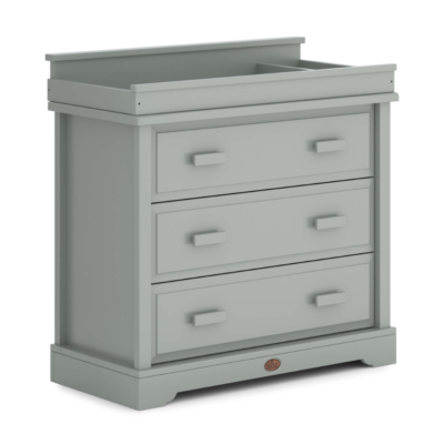 Boori 3 Drawer Dresser with Squared Changing Unit - Pebble