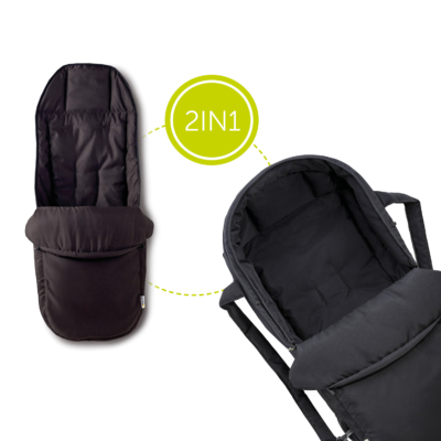 hauck 2in1 carrycot black footmuff
