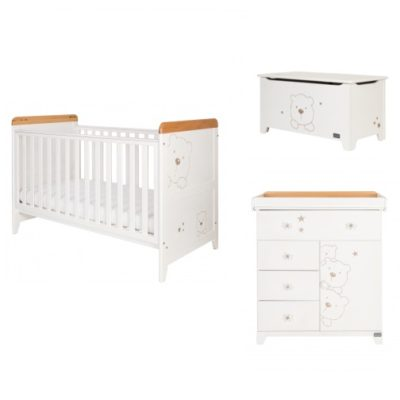 tutti bambini 3 bears 2 piece nursery room set plus toy box