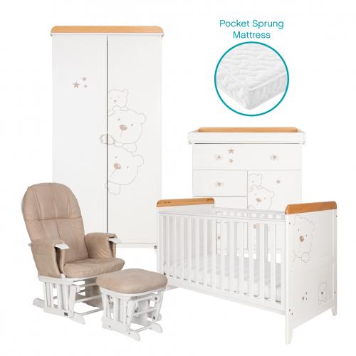 tutti bambini 3 bears 5 piece nursery room set