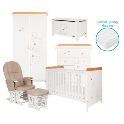 tutti bambini 3 bears 6 piece nursery room set
