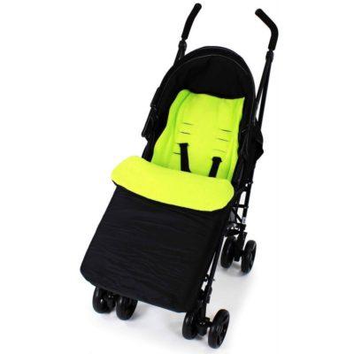 Baby Travel Footmuff - BlackLime