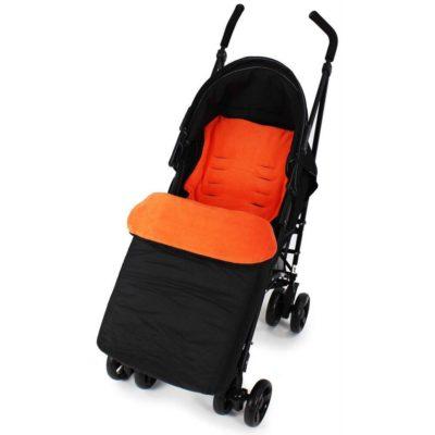 Baby Travel Footmuff - BlackOrange