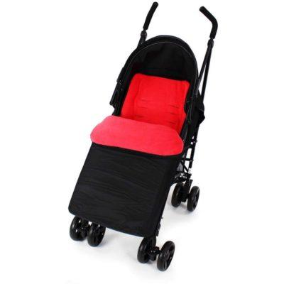 Baby Travel Footmuff - BlackWarm Red
