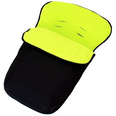 Buddy Jet Car Seat Footmuff - BlackLime