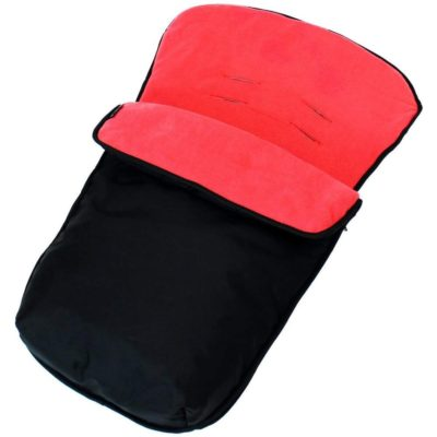 Buddy Jet Car Seat Footmuff - BlackWarm Red