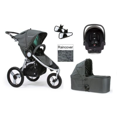 Bumbleride Indie Travel System - Dawn Grey Mint